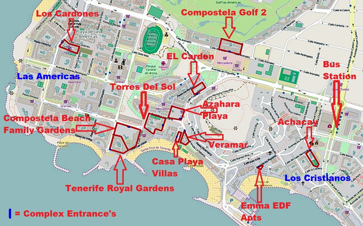 Area Map With Signs